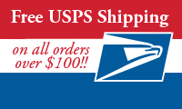 Free USPS Shipping on all orders over $100!